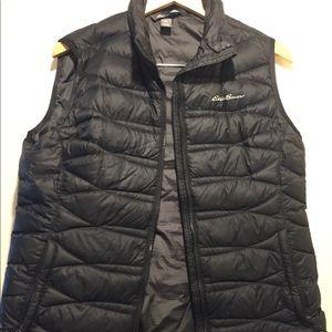 Classic black down vest